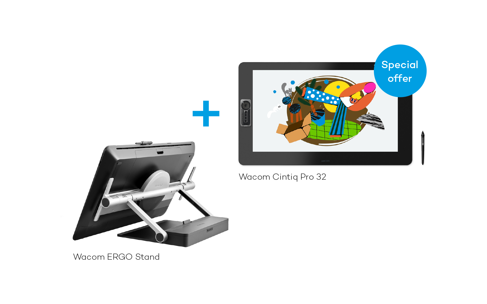 Wacom Cintiq Pro 32 (touch) with Ergo Stand Bundle