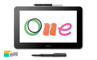Wacom One und der Stift LAMY AL-star Black EMR