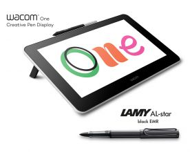 Wacom One with LAMY AL-star black EMR