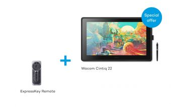 Wacom Cintiq 22 with ExpressKey Remote Bundle